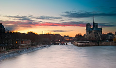 Cathedrale Notre-Dame - Paris (romvi) Tags: city longexposure sunset paris france church monument water architecture river atardecer nikon eau europe tramonto cityscape cathedral religion iglesia notredame chiesa villa capitale romain eglise notredamedeparis ville cathedrale fleuve couchdesoleil laseine catholique cathedralenotredame portdelatournelle longuepause d700 romainvilla romvi