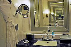 Infinite luxury (Roving I) Tags: travel heritage history tourism reflections design bathrooms shanghai infinity mirrors lifestyle marble hospitality fairmontpeacehotel goldgrand executivefloors