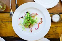 Macarela curada a la parilla y cebolla morada curtida (Cured mackerel on the grill with pickled red onion) ($153 MXP) (ALifeWorthEating) Tags: mexico mexicocity shellfish seafood laja merotoro jairtéllez