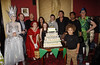 Charlie Clements, Jake Wood, Nina Wadia, James Forde, Nitin Ganatra, Shane Richie, Maisie Smith, Nitin Ganatra, Devon Higgs 'Shrek The Musical' first anniversary performance held at Theatre Royal - Inside London, England