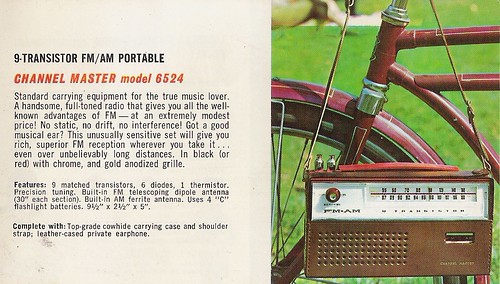 CHANNEL MASTER Radio, Television, Tape Recorder, Walkie Talkie and Interphone Brochure (USA 1961)_12