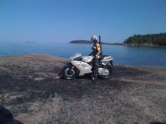 Helix on Bike (blackbarn2012) Tags: gijoe actionfigures motorcycle lakesuperior maisto uppermichigan wetmorelanding agenthelix