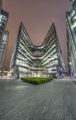 PWC London (odin's_raven) Tags: city uk longexposure nightphotography england urban color colour building london art english colors beauty price thames architecture modern night skyscraper photoshop geotagged photography photo office high cool nikon europe long cityscape skyscrapers nightshot dynamic angle britain geometry south capital curves wideangle southbank photograph cooper british nikkor curve hdr highdynamicrange waterhouse cityoflondon pwc photorealism postprocessing photomatix nikor 1424 odins pricewaterhousecooper d700 1424mm odinsraven