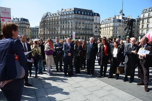 Inauguration des parvis Saint-Lazare