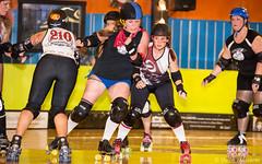 Red Hot Make Em Drop - 32 vs. Shock Stopher - 360 (Eric Von Flickr) Tags: seattle city girls washington women spokane track flat wheels lilac rainier roller derby skates