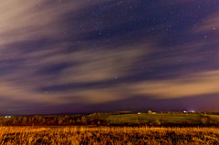 79/365: Cold Front (SPT Photographe (seanthibert.com)) Tags: trees sky cloud house canada blur cold color colour tree colors nova field grass weather night clouds forest canon project painting stars landscape star coast moving blurry day colours peace dynamic time hill sigma peaceful blurred move front east hills nighttime land fields 365 scotia scape starry dynamism maritimes 79 phenom phenomena antigonish reedit