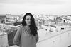 portrait on apartment roof (gorbot.) Tags: sunset blackandwhite dusk rangefinder syracuse sicily mmount leicam8 voigtlander28mmultronf19 vscofilm