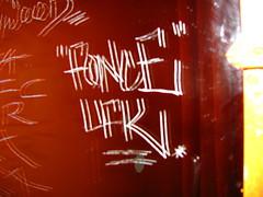 (FONS One, UFK CMK) Tags: california street new york paris art beach boston graffiti hawaii los san francisco europe long angeles miami tags pedro fonz scribes fons slaps cmk fonze ufk slaptags fonce fonse scibe