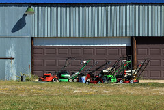 lineup (oldogs) Tags: mower lawnmower shadow equipment t6s