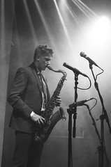 Blue Coltrane night at the Jazz Cafe, London, England (hedshot) Tags: jazz cafe club concert suit mike microphone sax