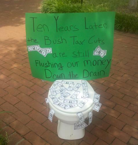 BushTaxCuts Toilet