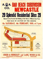M1607 - Bar Beach Subdivision Plan, Newcastle, Saturday 9th February, 1929 (Cultural Collections, University of Newcastle) Tags: newcastle plan australia nsw newsouthwales memorialdrive lightparade barbeach hunterregion landsales parkwayavenue aacompany subdivisionplans creerberkeley tookestreet wrightsonparade northumberlandpermanentbuildinginvestmentlandandloansociety langwoodandco residentialsites