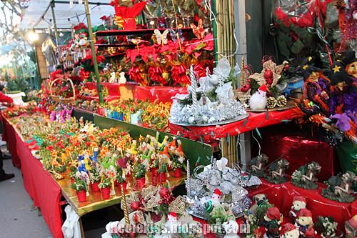christmas items at market