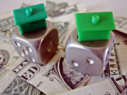 Houses on dollar bills