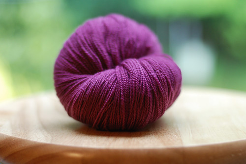 a purple yarn
