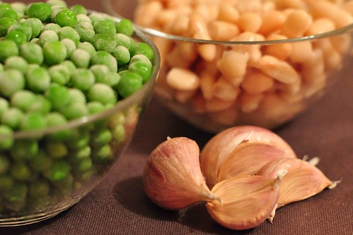 Garlic Peas - Ingredients