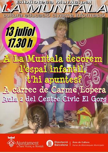A La Muntala decorem l'espai infantil, t'hi apuntes? by bibliotecalamuntala