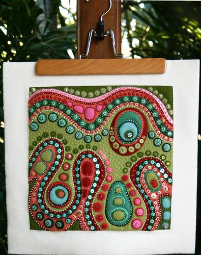 'Terrain' - Felt Textile Art