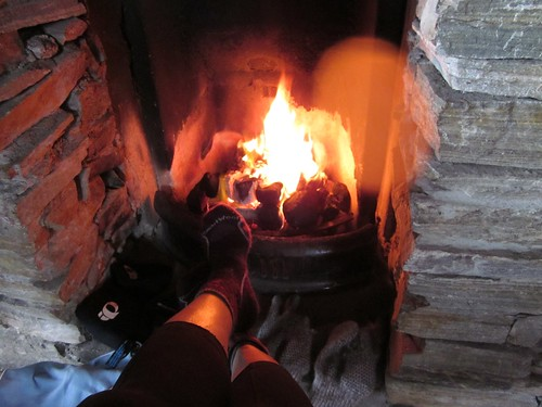 commandeering the fire on Inishbofin