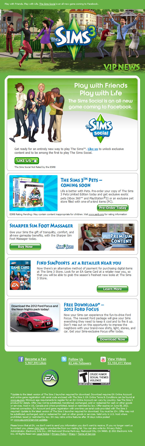 July The Sims VIP Newsletter
