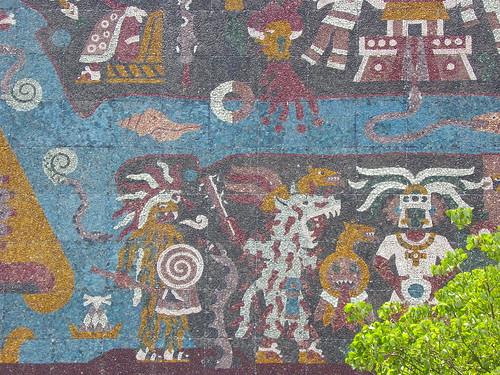 Mural detail - La Biblioteca Nacional de México