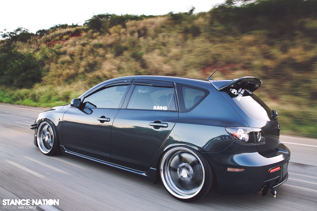 Stanced Mazda 3 http   montrealracing com forums showthread php 771448    Stanced Mazda 3
