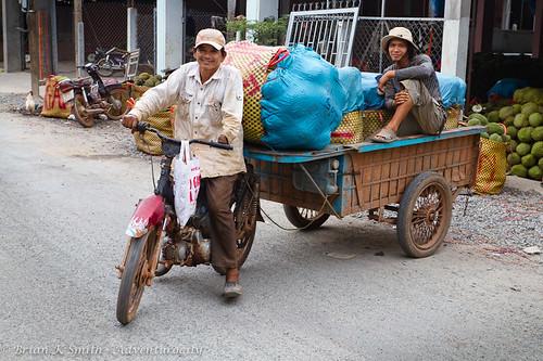 Durian delivery, Mekong delta, Vietnam
