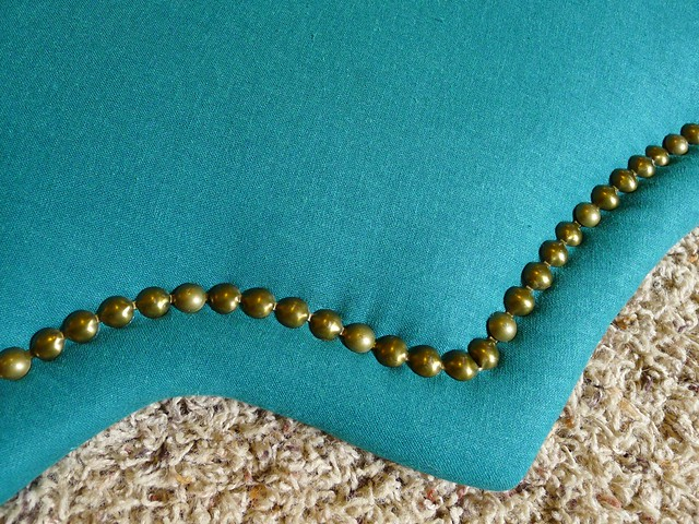 Closeup of Nailhead corner