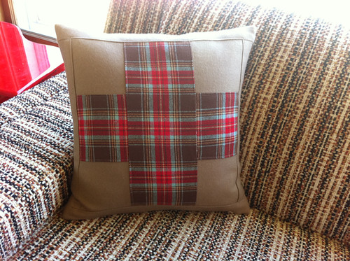 Pendleton cross pillow - front