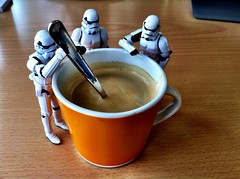 Stormtrooper making some coffee by renatomitra, on Flickr