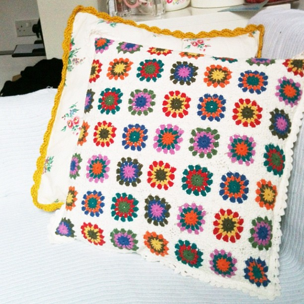 Crochet pillows and cushions
