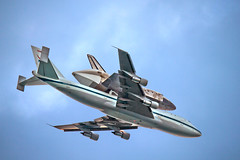Enhanced version- Discovery (Flying Jenny) Tags: space sca nasa farewell shuttle discovery flyover orbiter ov103