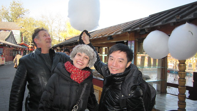 "Tamara Rojo and Fei Bo enjoy candyfloss with CNN executive editor Neil Curry. <a href=""http://www.roh.org.uk/news/tamara-rojo-fuses-east-and-west-in-new-tv-series"" rel=""nofollow"">www.roh.org.uk/news/tamara-rojo-fuses-east-and-west-in-ne...</a> Photo by CNN International / Fusion Journeys"