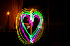 Love's Electric Discourse (Fesapo) Tags: longexposure light lightpainting color colour love electric japan canon dark prime colorful experimental candle colours apartment heart bright vivid sigma led 7d shimane swirls colourful dizzy matsue discourse dazzling 30mm