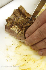 Fried loin of wild boar (J-P Korpi-Vartiainen) Tags: wild food finland wildlife meat boar elin ruoka smoked villisika liha elintarvike lhiruoka savustettu pohjoissavo villielin liharuoka jpko sianliha pohjoissavolainen villisianliha tarhattu