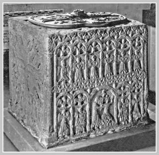 The 12th Century Font in Lenton's 1842 Trinity Church was originally in Lenton Priory .