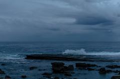 (danielle kiemel) Tags: ocean blue winter sea seascape storm beach landscape evening rocks waves photographer dusk australia nsw centralcoast waterscape terrigal thehaven rockplatform terrigalhaven daniellekiemel