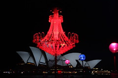 lighting the harbour - red (gemini*jen) Tags: city pink blue winter red colour art june night canon dark fun lights evening shadows display harbour sydney australia celebration festivaloflight coastal chandelier operahouse sydneyharbour 2012 sydneyoperahouse projections campbellscove vividsydney ringexcellence canoneos600d