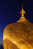 Golden Rock at Dusk (cormend) Tags: travel blue canon temple eos gold golden pagoda shrine asia tour state dusk burma buddhist pray holy myanmar mon southeast touring kyaiktiyo 50d cormend