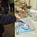 Tom Jamieson cutting the cake