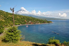 Amed with Gunung Agung - my favorite place in Bali! (Sekitar) Tags: sea bali mountain indonesia landscape volcano view laut gunung pemandangan agung amed karangasem earthasia