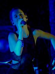 Marian Hill (peterkelly) Tags: digital panasonic lumix zs50 oromedonte ontario canada northamerica wayhome wayhomemusicartsfestival 2016 festival music marianhill samanthagongol singer singing performer concert blue wristband microphone mike