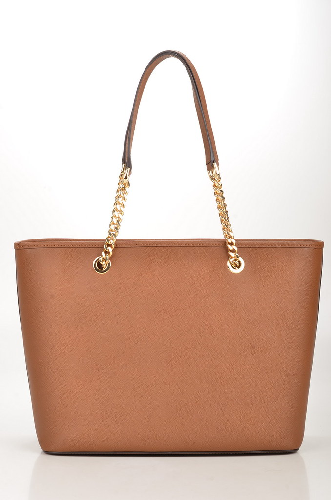 583c57121e80c Michael Kors Jet Set Travel Chain TZ Mult Funt Tote Shopper Saffiano  Kalbsleder hellbraun (brown