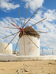 Mykonos Windmill. (john a d willis) Tags: greece greekisle mykonos windmill 16thcentury