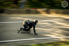 (mathieufournel) Tags: longboarding downhill asphalt action sports wheels