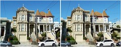 2774 California Street (San Francisco in stereo) Tags: crossview 3d stereophotograph victorianhouse