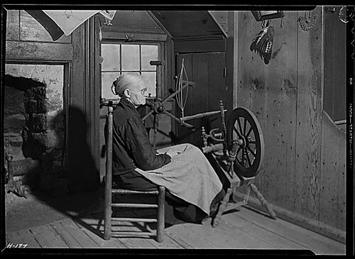 """Mrs. Jacob Stooksbury in her home at Loyston, Tennessee."", 11/23/1933"