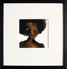 camille (bridget davies) Tags: portrait ink originalpainting blacklady bridgetdavies
