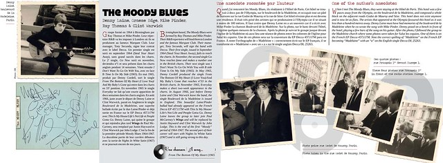 Incredible Autograph Collection, the book. The Moody Blues at Olympia, Paris, in the sixties. by Hoosta Magazine