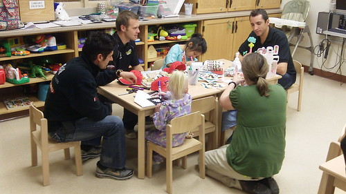 Arts and Crafts with the children at Riley Hospital